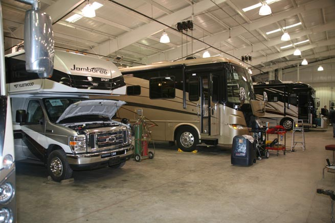 Ancira RV Service Bay